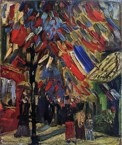 Vincent Van Gogh The Fourteenth of July Celebration in Paris - Hand Painted Oil Painting