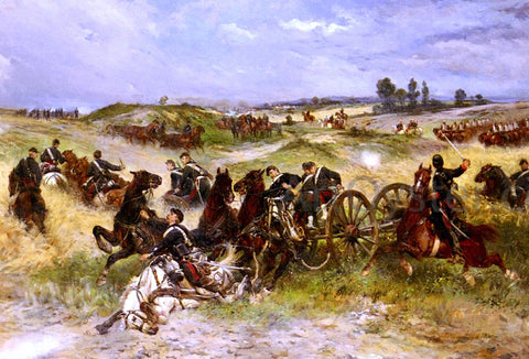James Alexander Walker The Fray Of Battle - Hand Painted Oil Painting