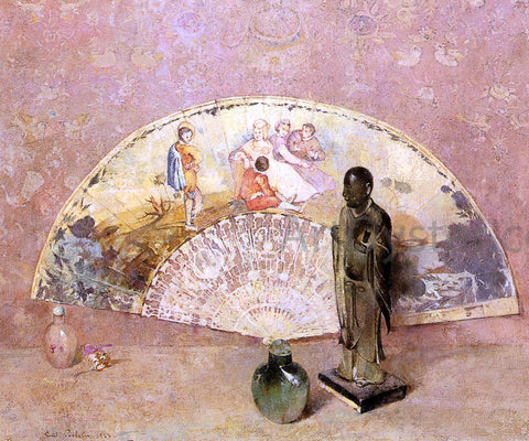 Emil Carlsen The French Fan - Hand Painted Oil Painting