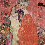 Gustav Klimt A Portrait of the Friends - Hand Painted Oil Painting