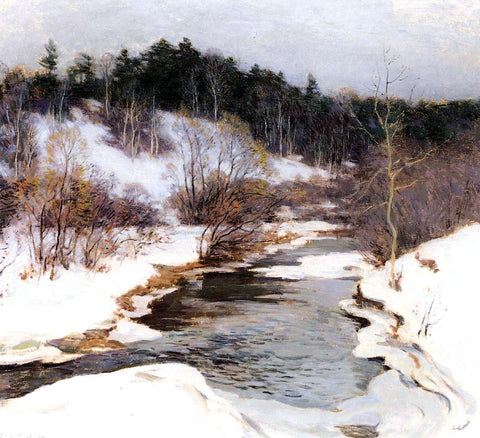 Willard Leroy Metcalf The Frozen Pool, March - Hand Painted Oil Painting