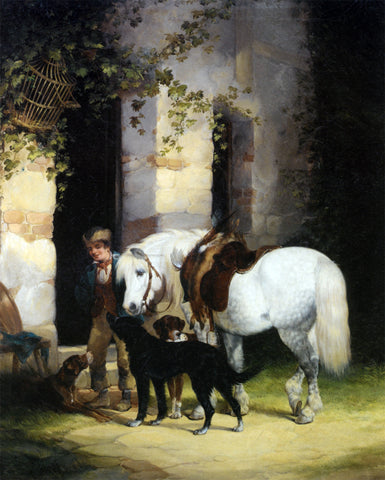 Senior William Shayer The Gamekeepers Companions - Hand Painted Oil Painting