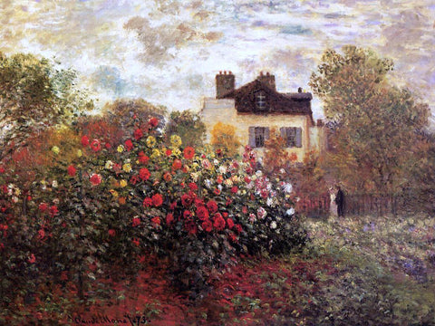 Claude Oscar Monet A Garden at Argenteuil (also known as The Dahlias) - Hand Painted Oil Painting