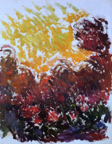 Claude Oscar Monet The Garden at Giverny - Hand Painted Oil Painting