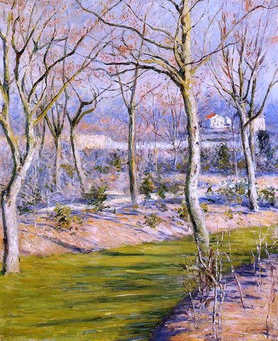 Gustave Caillebotte The Garden at Petit Gennevilliers in Winter - Hand Painted Oil Painting