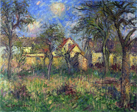 Gustave Loiseau The Garden - Hand Painted Oil Painting