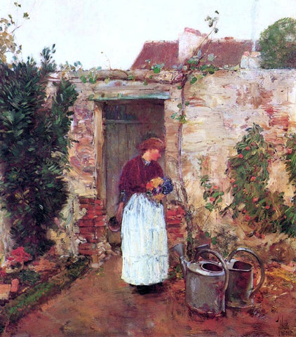 Frederick Childe Hassam The Garden Door - Hand Painted Oil Painting