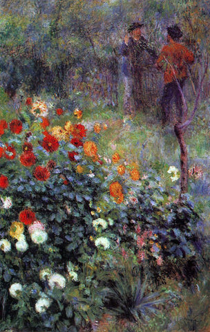 Pierre Auguste Renoir The Garden in the Rue Cortot at Montmartre - Hand Painted Oil Painting