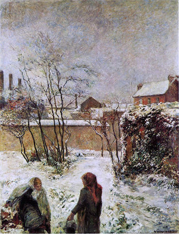 Paul Gauguin The Garden in Winter, rue Carcel - Hand Painted Oil Painting