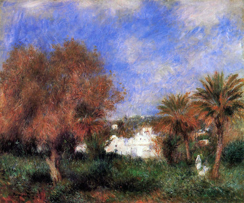 Pierre Auguste Renoir The Garden of Essai in Algiers - Hand Painted Oil Painting