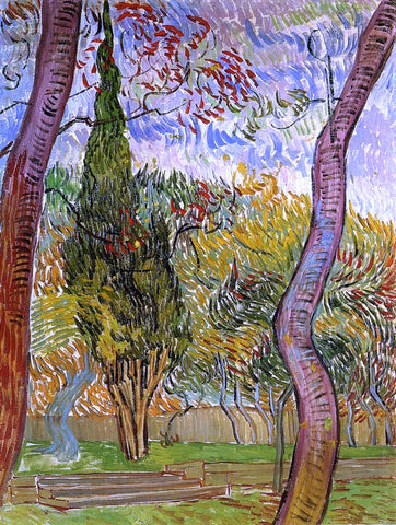 Vincent Van Gogh The Garden of Saint-Paul Hospital - Hand Painted Oil Painting