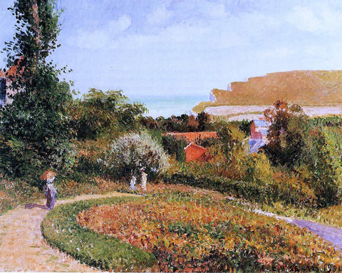 Camille Pissarro The Garden of the Hotel Berneval - Hand Painted Oil Painting