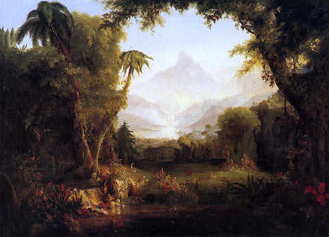 Thomas Cole The Garden of Eden - Hand Painted Oil Painting