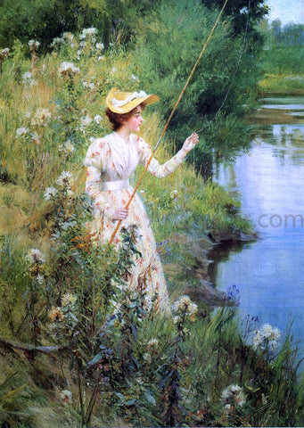 Francis Coates Jones The Gentle Angler - Hand Painted Oil Painting