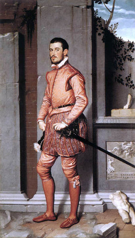 Giovanni Battista Moroni The Gentleman in Pink - Hand Painted Oil Painting