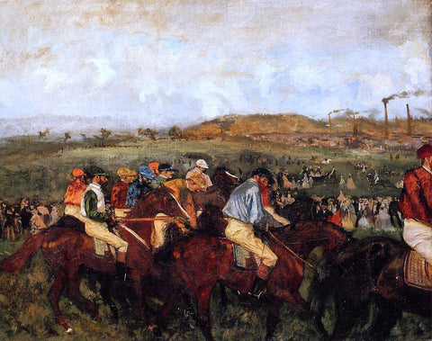 Edgar Degas The Gentlemen's Race: Before the Start - Hand Painted Oil Painting