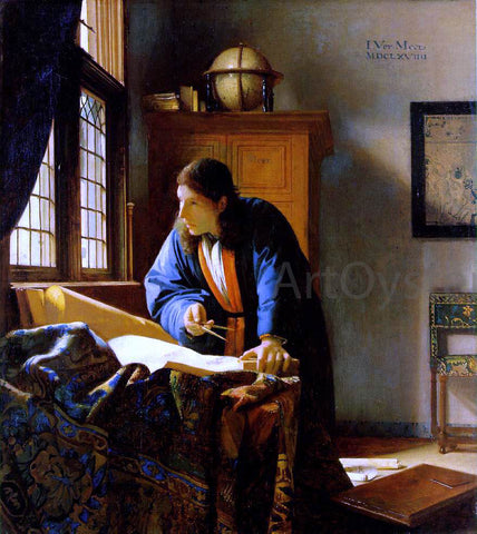 Johannes Vermeer The Geographer - Hand Painted Oil Painting
