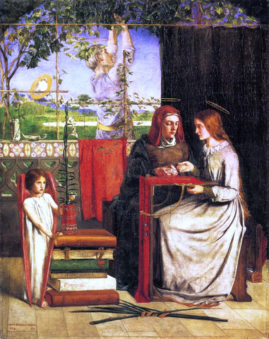 Dante Gabriel Rossetti The Girlhood of Mary Virgin - Hand Painted Oil Painting