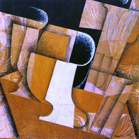 Juan Gris The Glass (also known as The Fruit Bowl) - Hand Painted Oil Painting