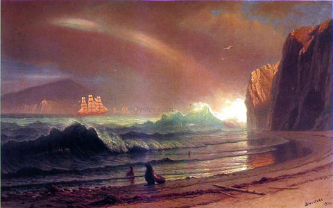 Albert Bierstadt The Golden Gate - Hand Painted Oil Painting