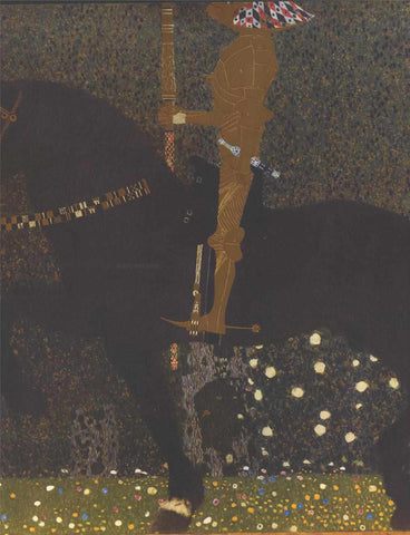 Gustav Klimt The Golden Knight - Hand Painted Oil Painting