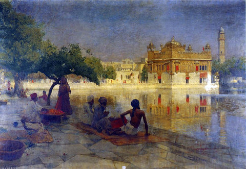 Edwin Lord Weeks The Golden Temple, Amritsar - Hand Painted Oil Painting