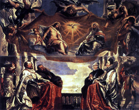 Peter Paul Rubens The Gonzaga Family Worshipping the Holy Trinity - Hand Painted Oil Painting