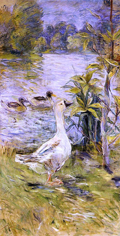 Berthe Morisot A Goose - Hand Painted Oil Painting