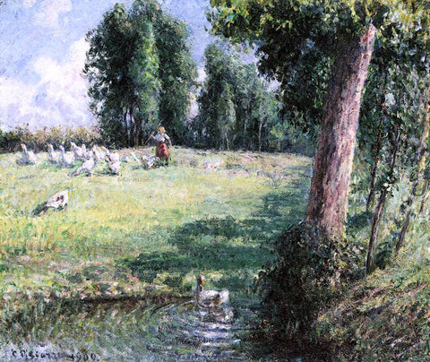 Camille Pissarro The Goose Girl - Hand Painted Oil Painting