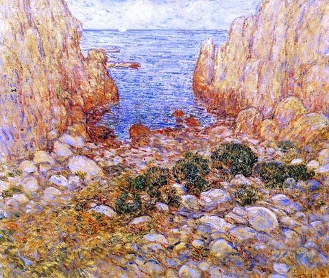 Frederick Childe Hassam The Gorge - Appledore, Isles of Shoals - Hand Painted Oil Painting