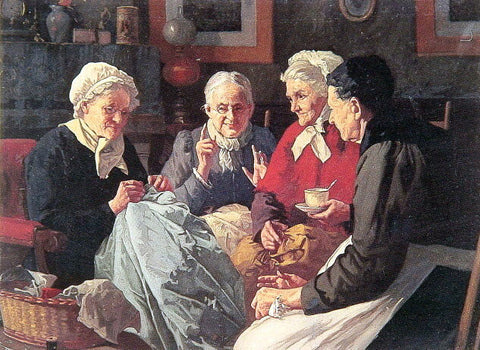 Louis C Moeller The Gossips - Hand Painted Oil Painting