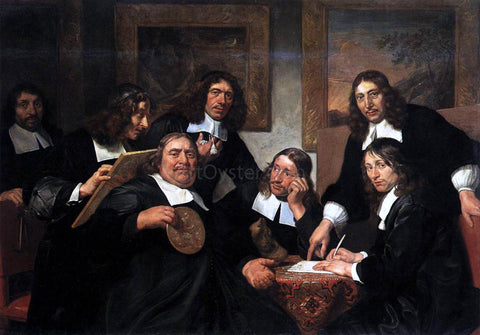 Jan De Bray The Governors of the Guild of St Luke, Haarlem - Hand Painted Oil Painting