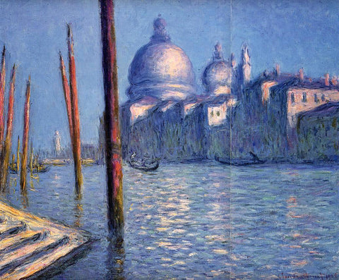 Claude Oscar Monet The Grand Canal - Hand Painted Oil Painting