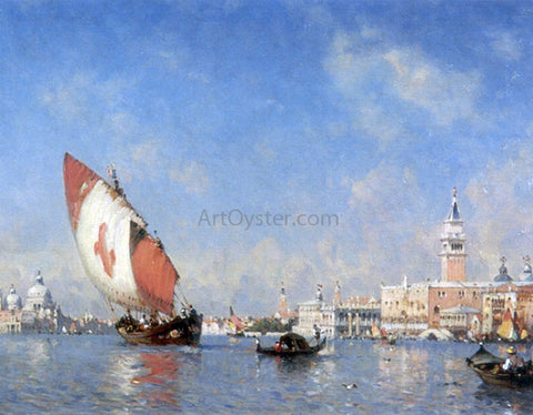 Amedee Rosier The Grand Canal, Venice - Hand Painted Oil Painting