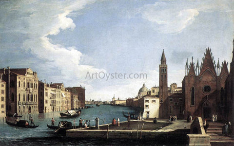 Bernardo Canal The Grand Canal with the Church of La Carita - Hand Painted Oil Painting