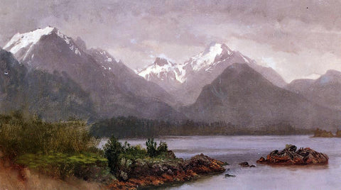 Albert Bierstadt The Grand Tetons, Wyoming - Hand Painted Oil Painting