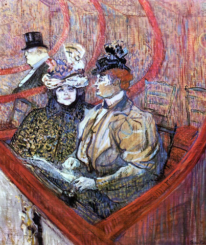 Henri De Toulouse-Lautrec The Grand Tier - Hand Painted Oil Painting