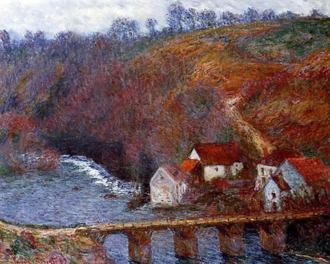 Claude Oscar Monet The Grande Creuse by the Bridge at Vervy - Hand Painted Oil Painting