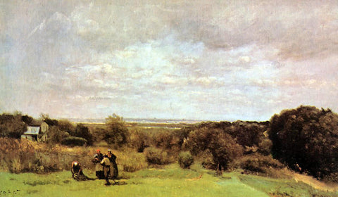 Jean-Baptiste-Camille Corot The Grape Harvest at Sevres - Hand Painted Oil Painting