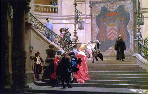 Jean-Leon Gerome The Gray Cardinal - Hand Painted Oil Painting