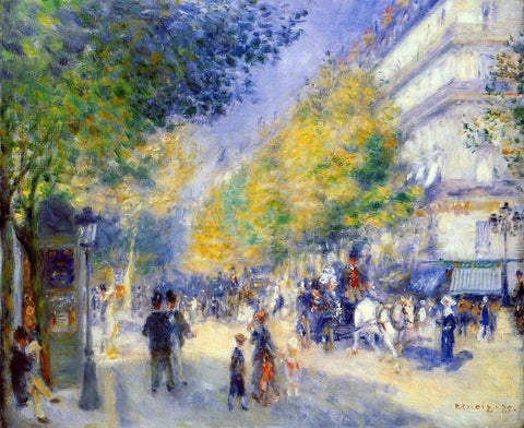 Pierre Auguste Renoir The Great Boulevards - Hand Painted Oil Painting