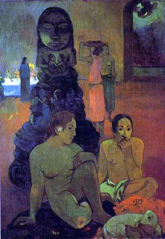 Paul Gauguin The Great Buddah - Hand Painted Oil Painting