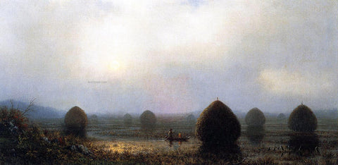 Martin Johnson Heade The Great Swamp - Hand Painted Oil Painting