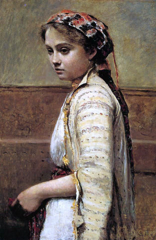 Jean-Baptiste-Camille Corot The Greek Girl - Hand Painted Oil Painting