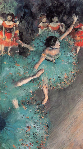 Edgar Degas A Green Dancer - Hand Painted Oil Painting