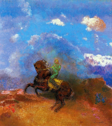 Odilon Redon The Green Horseman - Hand Painted Oil Painting