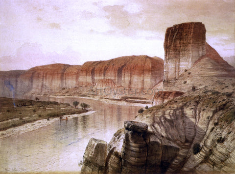 Jr. Samuel Colman The Green River, Wyoming - Hand Painted Oil Painting