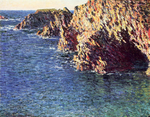 Claude Oscar Monet The Grotto of Port-Domois - Hand Painted Oil Painting
