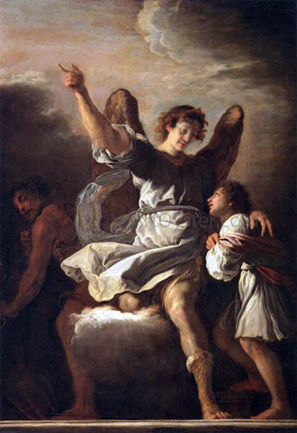 Domenico Feti The Guardian Angel Protecting a Child from the Empire of the Demon - Hand Painted Oil Painting