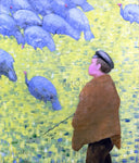Charles Angrand The Guardian of Turkeys - Hand Painted Oil Painting